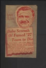 1948 Babe Ruth Obituary Religious Flyer New York Yankees
