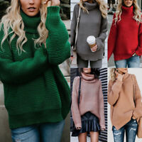 Warm Winter Turtleneck Sweater Women Pullover Thick Knitted Soft Elasticity