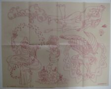 Vtg Artex 6917-A Embroidery Transfer Pattern WIZARD MAGICIAN FLYING HORSE TEENS