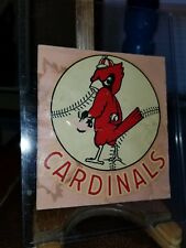 Vintage 1950s St. Louis Cardinals Baseball Team Decal American Decalcomania Co.