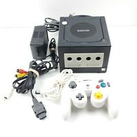 Nintendo GameCube Black Console W/ Cables And 1 Controller DOL-001