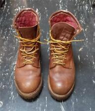 Vintage USA Red Wing Mans Brown Leather Lace Up Work Boot 9.5 D #55000 80s - 90s