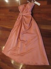 NWT LADIES DARK PINK RHINESTONE BUCKLE PROM EVENING LONG GOWN SIZE 12 MINT COND