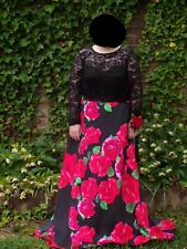 Size 20W Black and Red Prom Dress