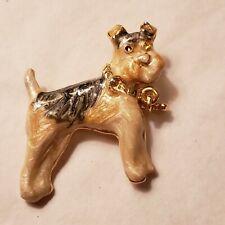 Vintage Airedale Terrier/dog Brooch
