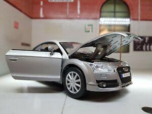 1:24 Scale 2007 Audi TT Silver Mk2 3.2 V6 Quattro TFS Motormax Diecast Model Car