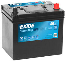 EL604 4 Year Warranty Exide Stop Start EFB Battery 60AH 520CCA