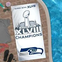 NFL Seattle Seahawks Super Bowl XLVIII Champion Beach Bath Towel 30'' x 60""