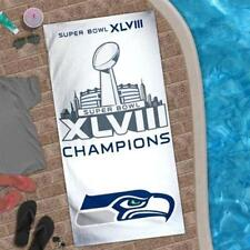 NFL Seattle Seahawks Super Bowl XLVIII Champions Beach Towel 30'' x 60""