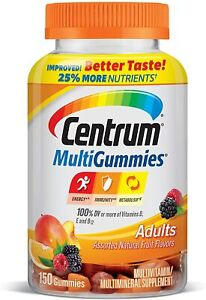 Centrum Gummy Multivitamin for Adults, with Vitamins D, B and E, 150 Count