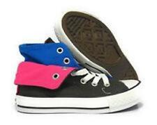 Converse All Star Chuck Taylor TWO FOLD Hi Shoes Charcoal Blue Pink 4 jr. 6 wms