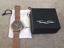 Thomas Sabo Mens Rose Gold Glam Spirit Mesh Watch. WA0177