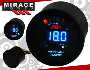 "2"" 52MM Digital Blue LED Air Fuel Ratio Turbo Racing Monitor Gauge For Nissan"