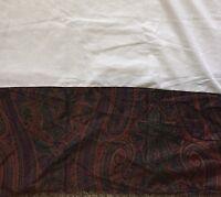 """Ralph Lauren Greycliff Paisley Cal King Bed Skirt Split Corners Unused 14"""" Drop"""