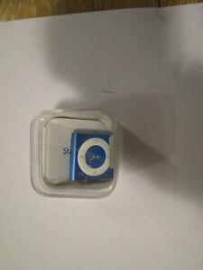 Apple iPod shuffle Blue 2Gb 4th Generation A1373, open box,unused.