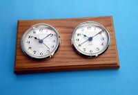 MEGA-QUARTZ dual time clock set