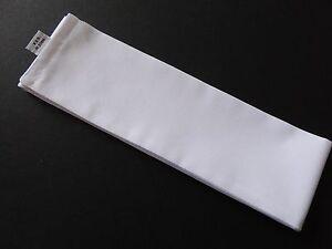 "Japanese Martial Arts Sports Hachimaki ""Shiro"" White Cotton Headband/37""L"