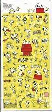 Peanuts Snoopy Woodstock and Friends Stickers Seals From Japan Yellow