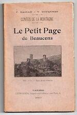 CONTES DES HAUTES-PYRENEES GASSAN & DUFAURET LE PETIT PAGE DE BEAUCENS 1913 EO