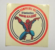 VECCHIO ADESIVO / Old Sticker UOMO RAGNO SPIDERMAN campo del re (cm 13) a
