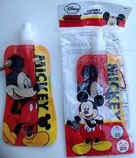 Mickey Mouse Plegable Botella De Agua / Sports Botella X 2