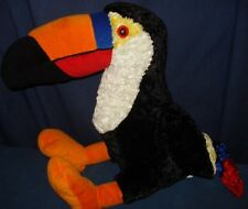 "Toucan Plush Black Rainbow colors 15"" Top Shelf Toy 3p4 Plushy Lovey Plushie Toy"