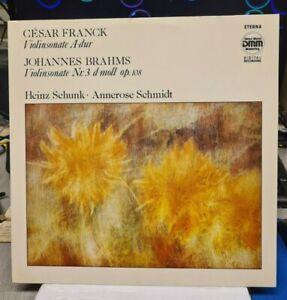 LP Brahms / Franck - Sonaten für Violine und Klavier - ETERNA  DMM  7 29 236