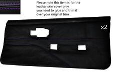 Purple stitch 2 cartes de porte avant pleine peau couvre fits PONTIAC FIREBIRD 90-92