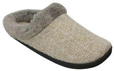 Dearfoams Women's Sweater Knit Clog Memory Foam Slippers (Medium/7-8, Oatmeal)