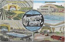 MULTIVIEW & LARGE LETTER ATLANTIC CITY,NJ 1954