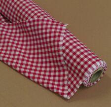 Züchen Karo Stoff Baumwolle rot-weiß 140 cm breit Meterware