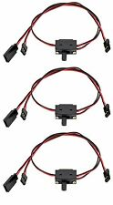 Apex RC Products JR Style 3 Way On/Off Switch W/ Charge Lead -3 Pack #1056