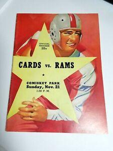 1948 CHICAGO CARDINALS vs L.A. Rams at Comiskey Park PROGRAM