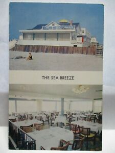 "1950s ADV POSTCARD "" THE SEA BREEZE "" 99TH ST AT BEACH STONE HARBOR NJ BIO SITES"