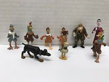Chicken Run Vintage Collectibles by DreamWorks Mini Figures Lot of 9