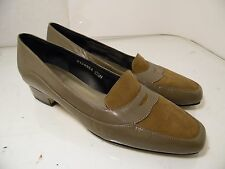 Ros Hommerson Brown Leather Kitten Heels Shoes Slip On Womens Size 6.5 N