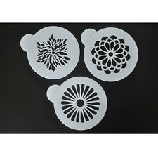 FOUR-C Pack of 3 Coffee Cake Stencil Set by Designer Stencils Decorating Tools