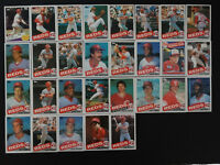 1985 Topps Cincinnati Reds Team Set of 31 Baseball Cards
