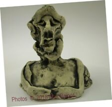 "6"" Statue LADY Gloria Bailey 2017 Artist Sculpture Bust ART pottery SIGNED"