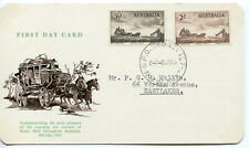 1955 Australia. First Day Card. Mail-Coach Pioneers Commemoration.
