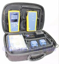 Fluke Networks DTX 1800 Cable Tester Main unit & Smart Remote w/Case & Modules