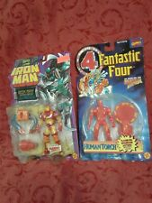 Rare 2x sealed toybiz lot IRON MAN Inferno Armor  Action Figure human torch gift