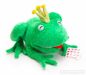 "NEW GREEN FROG FRANCIS BURPY - 10"" Tall  Plush Stuffed Animal Toy bagged Kermit"