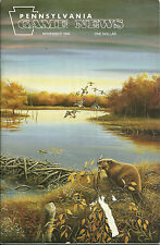 Pennsylvania Game News November 1994 cover by Mark Bray beaver