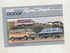 1985 Dodge Ram Wagon Van Factory Postcard mx8259