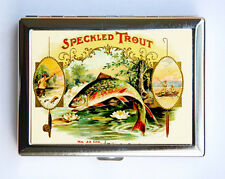 Rainbow Trout fish Metal Cigarette Case Wallet Business Card H fisherman