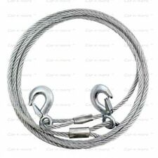 Car Auto Full Steel Towing Tow Cable Rope 5 Ton 8mm Heavy Duty Ton 3.5 Mtr