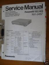 Panasonic REPARACION DE MANUAL DE SERVICIO nv-j45, vw-vps5 vídeo, original