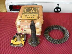 55-64 CHEVROLET IMPALA BELAIR CORVETTE NOS GM RING & PINION GEARS 3:55 P-CASE