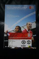 More details for chelsea v man utd 2007 community shield programme + club wembley gold ticket